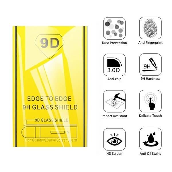 Tempered Glass Full Glue 9H για Xiaomi NOTE 8 Black